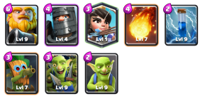 Downton Gobbey Deck Goblin Challenge Clash Royale