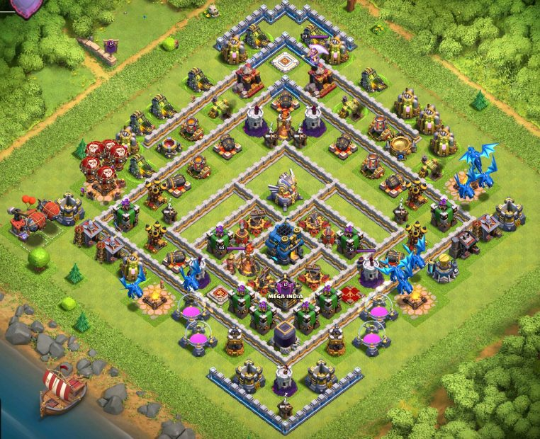 Base War Th 12 Unik 7