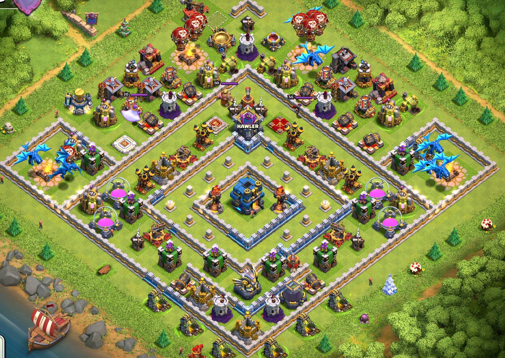 Best town hall base design layouts in clash of clans clash