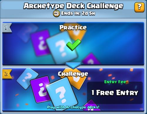 Archetype Deck Challenge Clash Royale