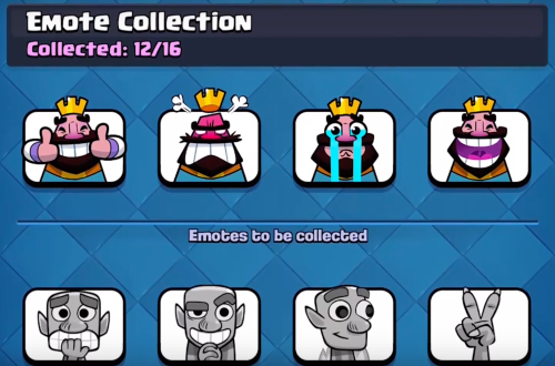 Emote Collection Clash Royale