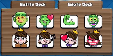 Emote Deck Clash Royale