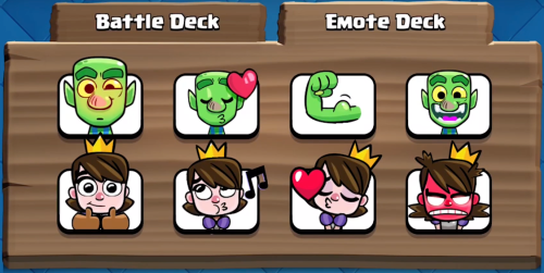 Emote Deck Clash Royale