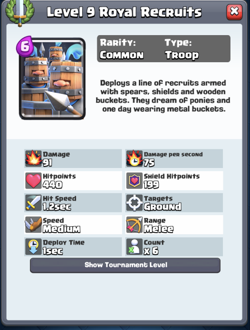 Royal Recruits Statistics Clash Royale