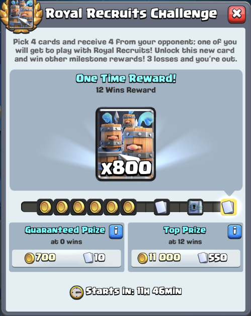 Royal Recruits Challenge Rewards Clash Royale
