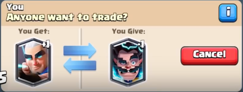 Trade Tokens Trading Cards Clash Royale