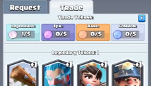 Trading Cards Trade Tokens Clash Royale