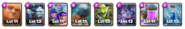 Giant Three Musketeers Deck Clash Royale September 2018