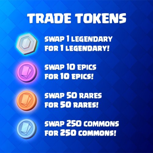 Trade Tokens Drop Rates Odds Clash Royale