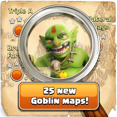 25 New Goblin Maps Clash of Clans October Update