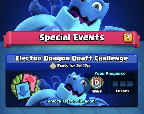 Electro Dragon Draft Challenge Clash Royale