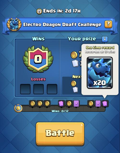 Electro Dragon Draft Challenge Rewards Clash Royale