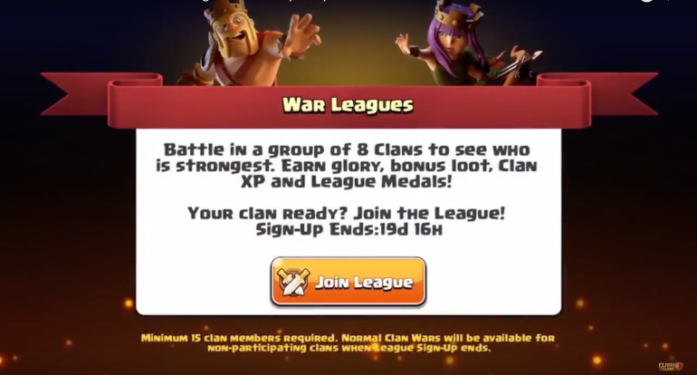 Join a Clan War League Clash of Clans