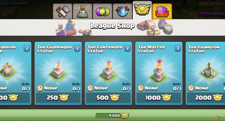 Clan War Leagues Shop Clash of Clans