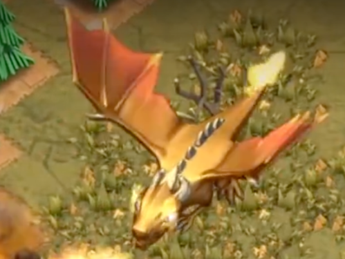 Giant Dragon Dragon's Lair Clash of Clans