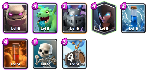 Golem Night Witch Deck Shocktober Challenge Clash Royale
