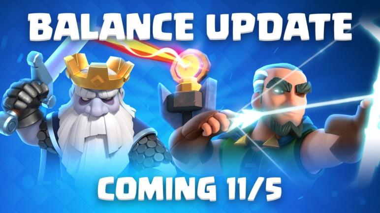 Clash Royale November 2018 Balance Changes Update