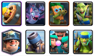 Mortar Log Bait Deck CRL Blind Deck Challenge Clash Royale
