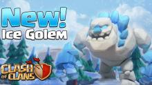 Ice Golem Clash of Clans December Update New Dark Troop