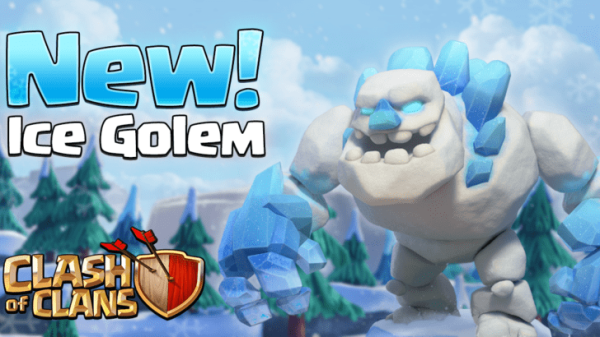 Ice Golem Clash of Clans December Update New Dark Troop
