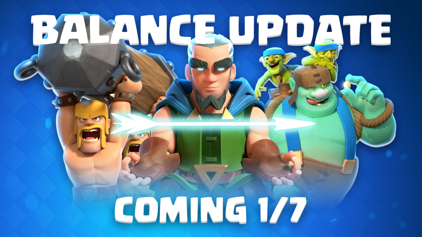 Clash Royale Balance Changes Update (January 7th, 2019)