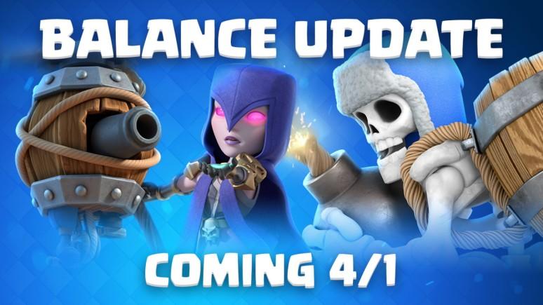 Clash Royale April 2019 Balance Changes Update