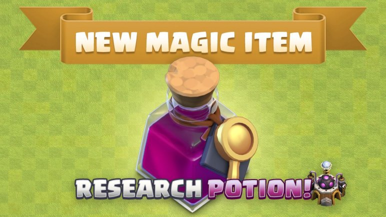 New Magic Item (Research Potion) in Clash of Clans June
