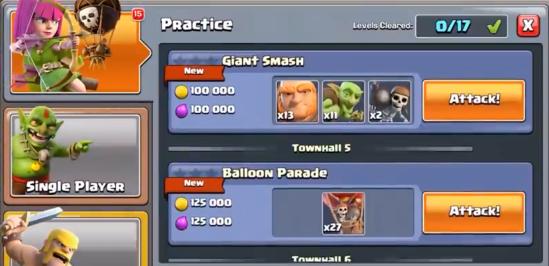 Practice Mode Clash of Clans June Update