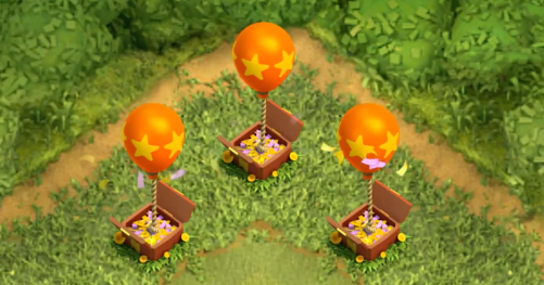 Balloon Seasonal Obstacle Clash of Clans Update