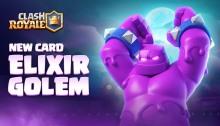 Elixir Golem New Card Clash Royale October Update