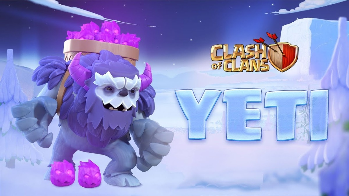 new yeti troop unlocked at town hall 13 in coc clash for. Black Bedroom Furniture Sets. Home Design Ideas